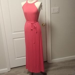 Nwt Old Navy pink maxi dress XS petite